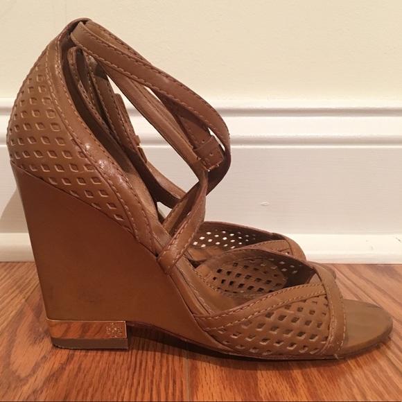 f0b808b99358 Tory Burch 6.5 Tan Alyssa Wedge Sandal Heels. M 5a9d60cf9d20f04fb8fe3ad2